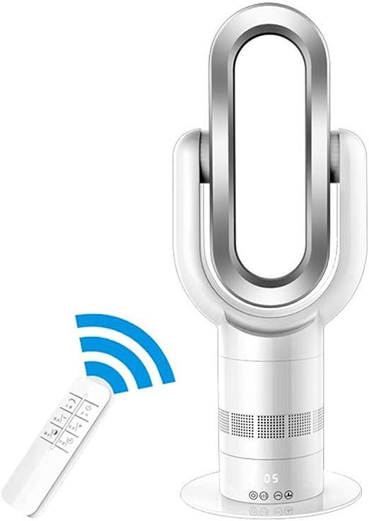 COLER Ventilador sin aspas, calefacción y enfriamiento Ventilador de pie de Seguridad de Uso Infantil, Ultra silencioso, de Doble Uso Control Remoto Sincronización ...