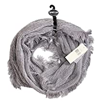 Collectioneighteen - Women's - Metallic Cable Knit Baby Fringe Infinity Scarf