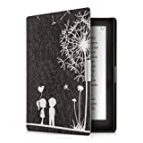 kwmobile Case for Kobo Aura Edition 1 - Book Style PU Leather Protective e-Reader Cover Folio Case - white black