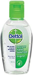 Dettol Instant Liquid Hand Sanitizer Refresh Anti-Bacterial, 50mL