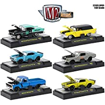NEW 1:64 AUTO-MODS RELEASE 6 AM06 IN ACRYLIC CASES ASSORTMENT Diecast Model Car By M2 Machines Set of 6 Cars