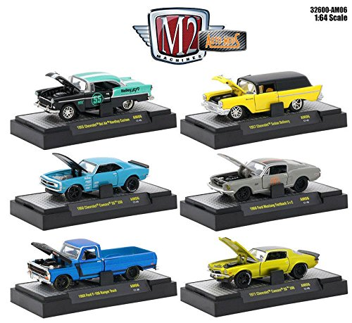 ELEASE 6 AM06 IN ACRYLIC CASES ASSORTMENT Diecast Model Car By M2 Machines Set of 6 Cars ()