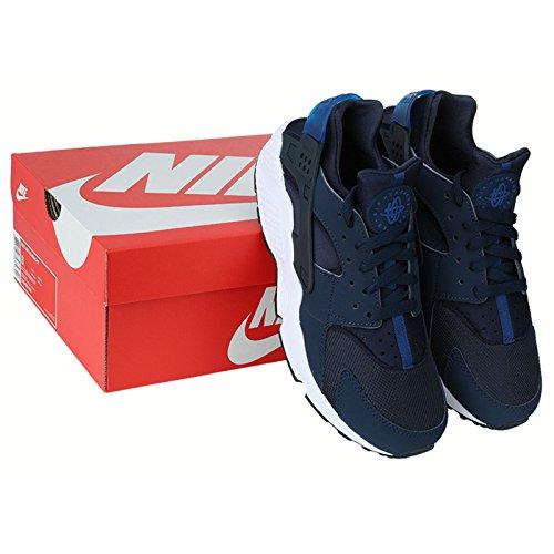 Nike Air Huarache Menns Sko Mid Navy / Obsidian-gym Blå 318429-444 Sz 7