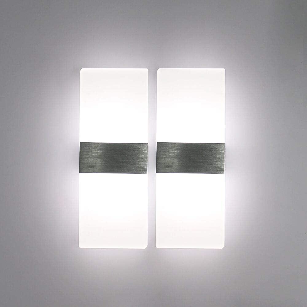 Lampe murale Aluminium Plastique Acrylique DEL Blanc intemporel