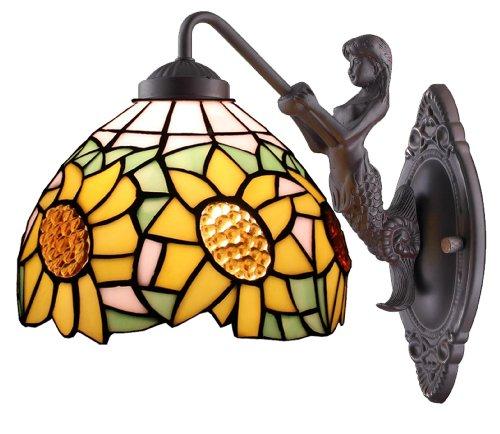 Amora Lighting Amora Lighting AM1074WL08 Tiffany Style Sunflower Wall Sconce Lamp Fixture