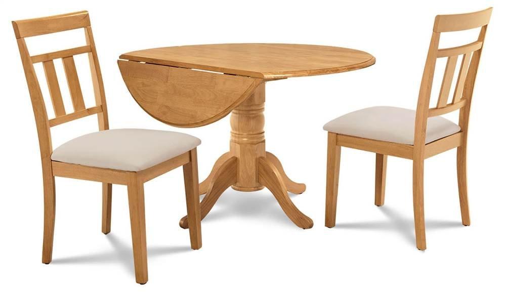 Amazon.com - M&D Furniture 3-Pc Kitchen Table Set in Oak ...