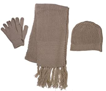 Wholesale Lots Knitted Hat Gloves Scarf Set Winter Hat