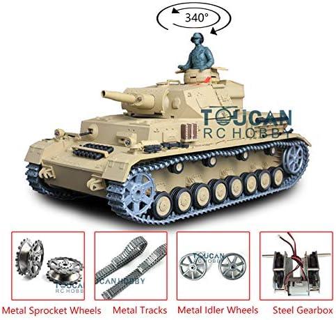 Henglong 1//16 TK6.0 Upgraded German Panzer IV F RC Tank 3858 Metal Tracks Sprockets