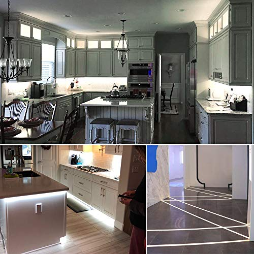 HitLights Neutral White LED Strip Lights, UL-Listed Premium High Density 2835-16.4 Feet, 600 LEDs, 4000K, 48W, CRI 91.5, 12V DC LED Tape Lights for Under Cabinet, Kitchen, Lighting Project