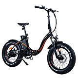 Overfly Techclic Electric Bike ebike Foldable Flat Style Brushless Rear Motor with LCD Display