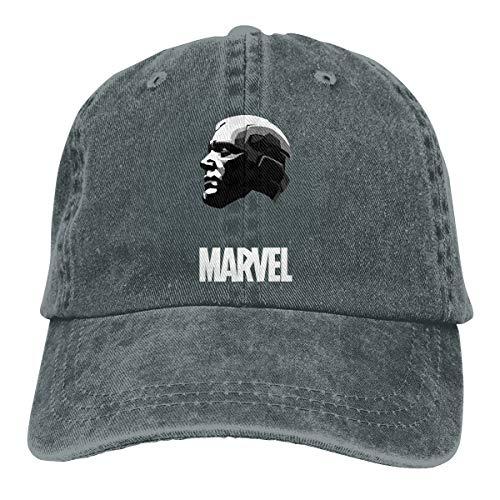 Hengteng Personalized Printed Comfortable Hip-pop Caps Avengers Vision New Baseball-Cap Deep Heather