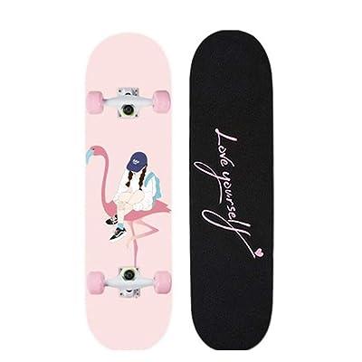 Skateboards Cruiser Longboard Deck Skateboard Complete 31 Inch Walk Alone Girl : Sports & Outdoors