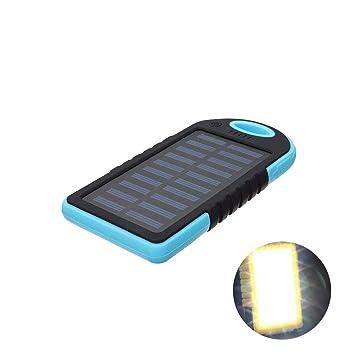 DZWJ Cargador Solar, batería portátil para Exteriores de ...