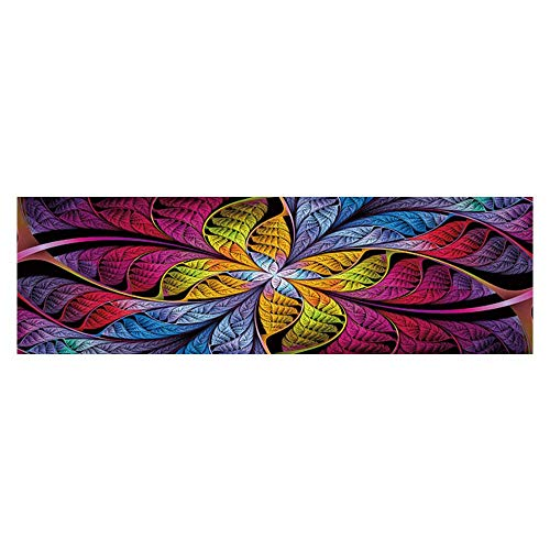 Background extraordinarily Stained Glass Leaves are Fabulous Plants Wallpaper Fish Tank Backdrop Static Cling L29.5 x H17.7 ()