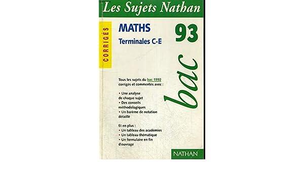 Sujets bac 93 maths c e non corriges Sujets Nathan 92: Amazon.es: COLLECTIF: Libros en idiomas extranjeros