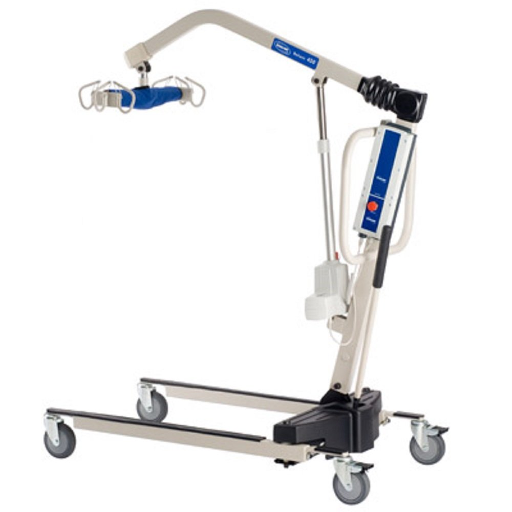 Invacare Power Body Patient Lift Reliant 450 Battery-Powered Lift with Low Base - RPL4501 With Invacare Overbed Table - 6417 Bundle