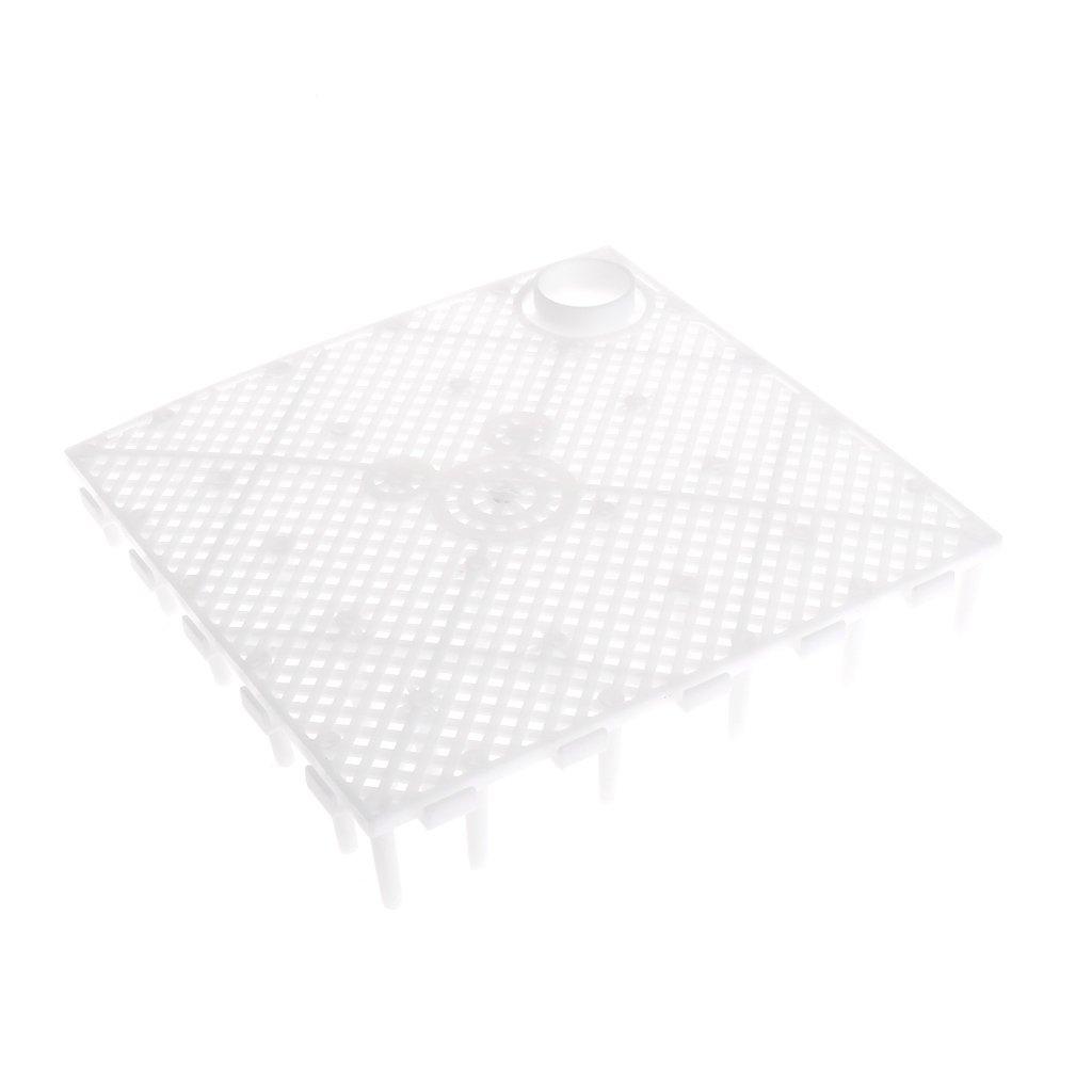 Poity Aquarium Fish Tank Bottom Filter Plate Decorative Under Gravel Enhancer System White 15x15x2.8 cm