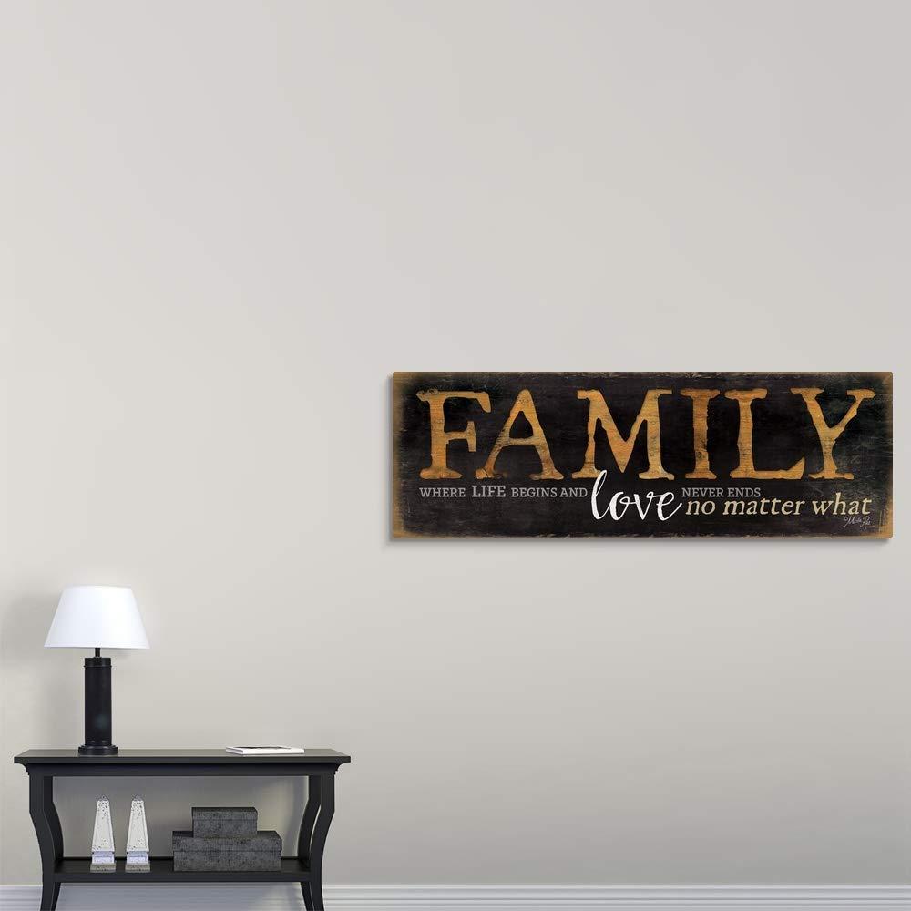 Family – Where Life Begins Canvas Wall Art Print, 60 x20 x1.25