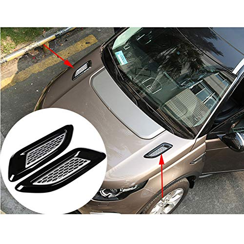Car Hood Outlet Trim Cover Accessories for Land Rover Discovery Sport /LR3/LR4/LR5/Range Rover/Freelander 2 (2 Pieces) ()