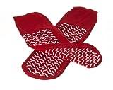 Medline MDT2185571 Fall Prevention Slippers, Unisize, Red (Case of 48)