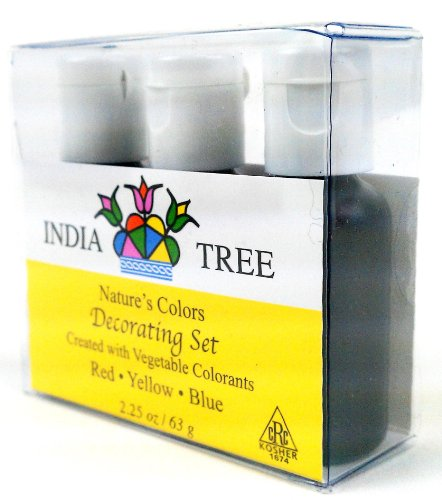 India Tree Natural Decorating Sugars (6 bottles) and Food Coloring ...
