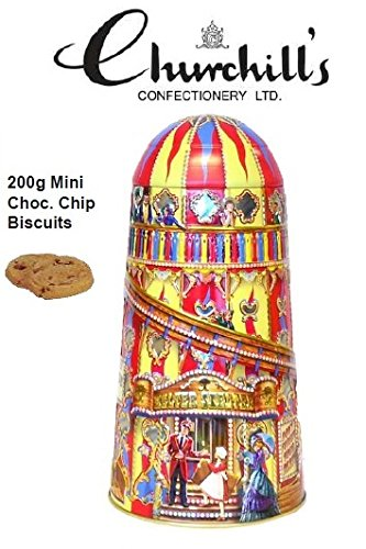 (Churchill's Helter Skelter Collectible Gift Tin With Chocolate Chip Biscuit)