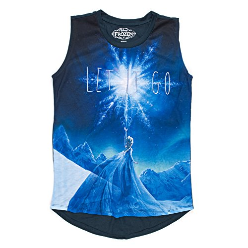 Frozen Juniors Scene Mangas Para Camiseta Xs Night It Let Disney Elsa Go Sin 1dqw1Sp