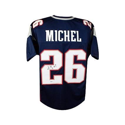 29bd45dc3f6 Sony Michel Autographed New England Patriots Custom Football Jersey - BAS  COA