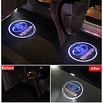 4 PCS Compatible Toyota Door Logo Lights Projector LED 3D Shadow Ghost Light For Toyota Highlander/Camry/ Prius/Sienna/Tundra/Venza/4 Runner Puddle Light Accessories: Automotive