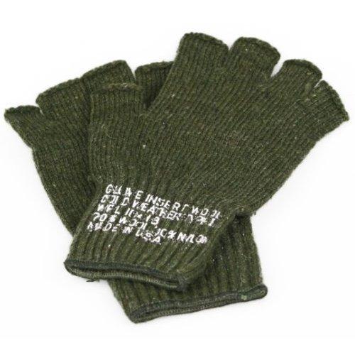 G.I. Wool Fingerless Glove, Olive Drab by Private Island