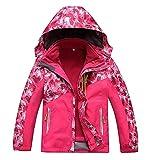Vinmin ValentinA Boys Girls Outdoor Winter Two-piece Coat 3-1 Children Thicken Velvet Detachable Warm Quilted Jacket