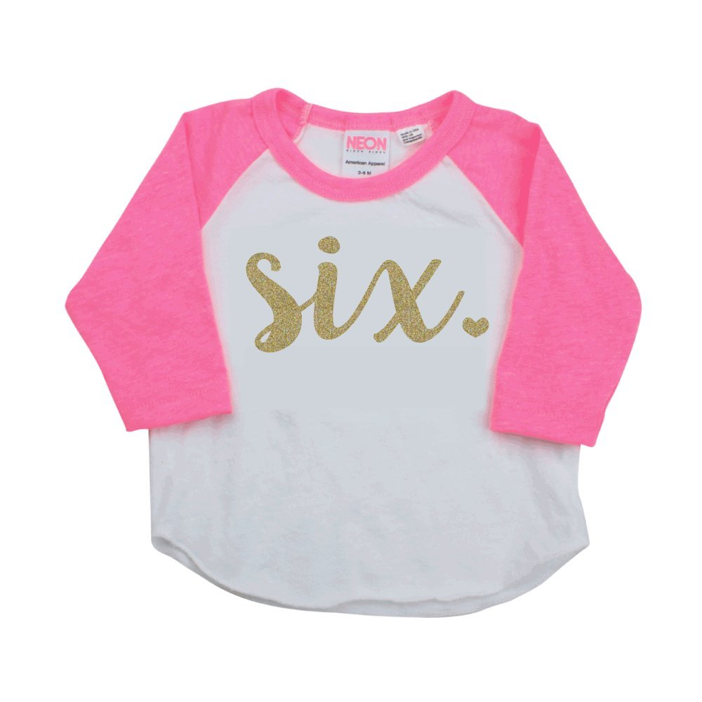Amazon Girl Sixth Birthday Outfit Shirt Six Year Old 6T Baby