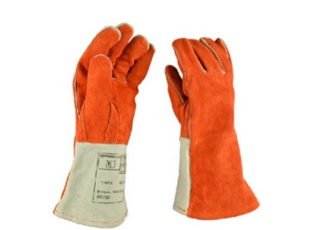 耐熱ロング革手袋 溶接・防火・アウトドア