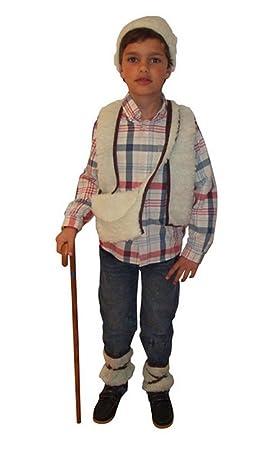Atosa - Disfraz de pastor para niño, talla 3-4 años