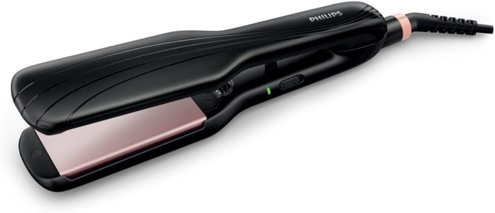 Philips Essential Care HP8325/13 Utensilio de peinado Plancha de pelo Caliente Negro 1,8 m - Moldeador de pelo (Plancha de pelo, Caliente, 210 °C, 60, 1, Negro, Cerámico)