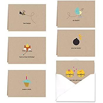 amazon com hello darling social stationery flat note cards by