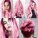Temporary Hair Wax Color Pink Natural Matte