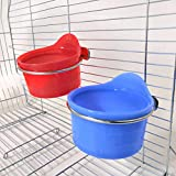 POPETPOP Bird Feed Cups for Cage-Pet Food & Water Bird Cup with Clamp