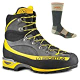 La Sportiva Men's Trango Alp Evo GTX Boot Grey/Yellow w/ Darn Tough Sock - 41