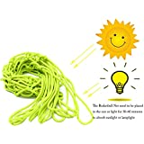 Lightthebo Glow In The Dark Nylon Basketball Net Portable Outdoor Sun Powered Sports Basketball Hoop Net