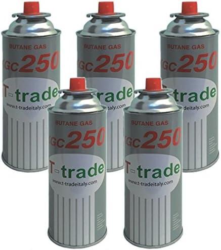 Bombonas de gas butano, paquete de 5 piezas de 250 g para hornillo de campamento o de casa