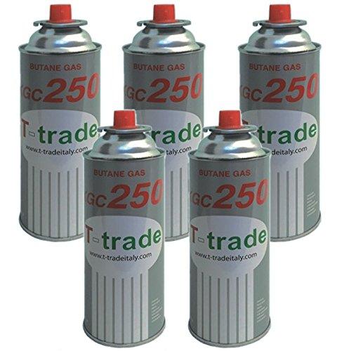 Bombolette Gas Butano Multipack 5 pezzi 250 Grammi Fornelli Campeggio Casa TRADE