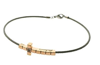 le dernier c8115 5b77f Bracelet homme Salvini diamant noir ref 20067611: Amazon.fr ...