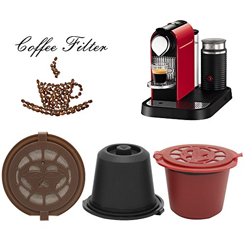 Refillable Reusable Coffee Capsules Pods for Nespresso Machines Filter,Coffee Shell,Coffee Capsule Pod Holder
