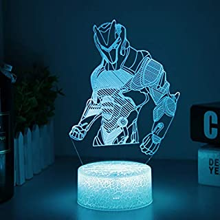 Cool Fortress Lamp Light for Boys Changeable USB Touch Lampada 3D Visual Bulbing lampen Children's Room Decor Holiday Light (Crack Omega)