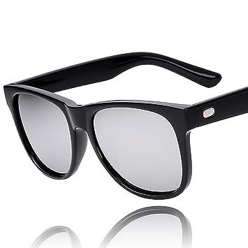 Z&YQ Gafas de sol polarizadas marea retro salvaje personalidad reflexiva hombres y mujeres gafas de sol