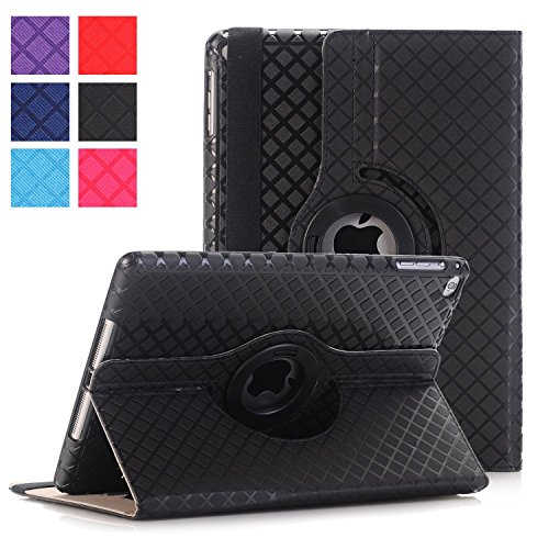 iPad air 2 Case ,UUcovers 360 Degree Rotating Stand Case with Smart Cover Auto Sleep / Wake Feature for Apple iPad Air 2 (iPad 6) 2014 Model-Black