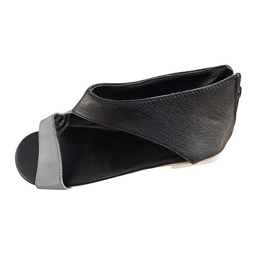 3cd30e8845a16 Amazon.com: Women's Flats Sandals Splice Hollow Out Sandals Open Toe ...