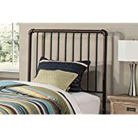 Hillsdale, LLC Brandi Bronze Metal Twin Duo Panel Headboard with No Headboard Frame