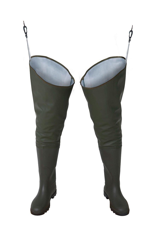 PROS/ 3Kamido Trampolieri Standard Stivali da Pesca, Waders (Verde, 44 EU)
